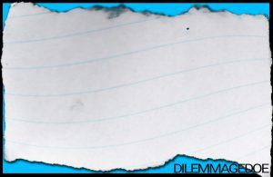 leeg kaartje Dilemma-Gedoe